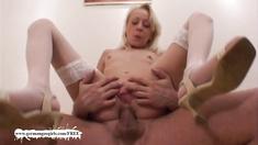 Little blonde anal slut