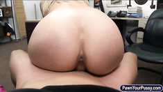 Huge boobs stripper fucked by pawnkeeper at the pawnshop