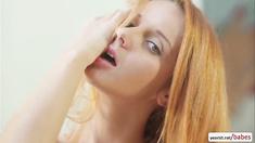 Slender beauty Roberta Berti explores herself in a hot solo fuck