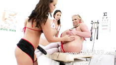 Three anal nurses licking prolapse asshole