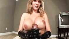 Hand dominationg on black cock