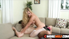 Blonde Milf Cherie Deville knows how to please the dick