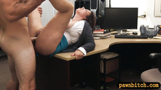 Big boobs milf pounded for her hubbys bail at the pawnshop