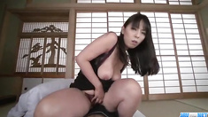 Ryoko Murakami, big tits milf, shakes hard on a big dick