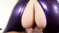 Latex and divinely hot fetish actions