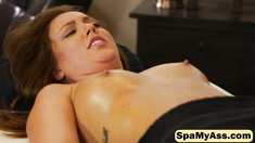 Maddy O Reilly is turned on with a naughty massage