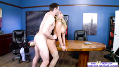 Horny fuck expert Olivia shows how to do it in the office