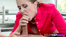 Natalia shares her mans cock with her stepmom Julia Ann