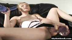 Kayla Marie is a horny blonde who likes to stretch her pussy