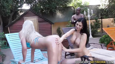 Jasmine Jae and Lexi Lowe enjoy BBC Anal with Mandingo