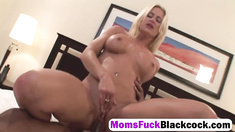 Lauren Kain goes crazy enjoying a massive black piece