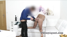 Fake agent shoots and bangs blonde babe