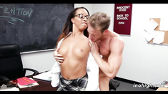 Hot Teen Student Drilled By Professor Teanna Trump