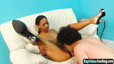 Babe Porche Carrera gets her pussy licked and fucked