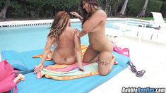 Asstastic Latinas Spicy J & Miss Raquel Warm Up For Cock