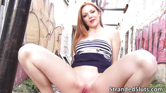Hot bitch Farrah gets into strangers hot car  and fucked at the backseat