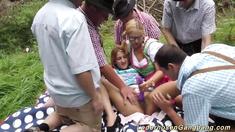 german outdoor gangbang orgy