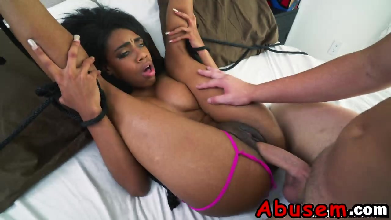 Ebony pussy and white dick