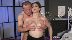 Husband licks and fucks wife in lingerie