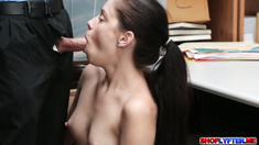 College babe Bobbi Dylan steals and got fucked