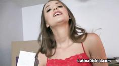 Pounding hot girlfriend doggystyle
