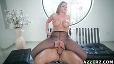 Busty MILF Brooklyn Chase fucked in her sexy ass