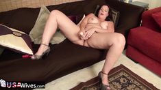 USAWiveS Busty mature Dylan solo