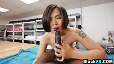 Japanese school girl special treatment with BBC