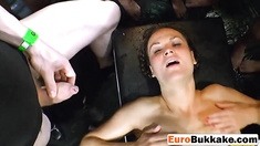 Euro sluts get golden show while ramming cocks