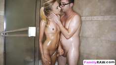 Bree Mitchells bangs horny step bro in shower