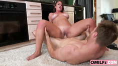 Big booty milf maid seduced big cock boss by working in full naked glory